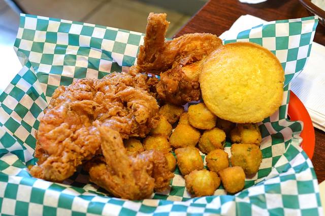 America's Best Fried Chicken three pieces of chicken