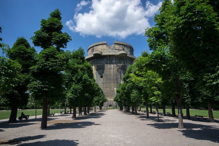 Flak Tower in Augarten park