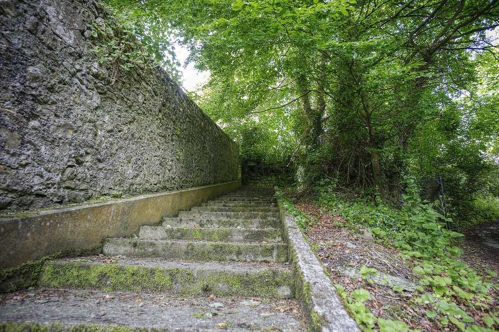 Steps leading up to the Three Castles church.