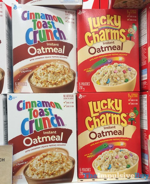 Cinnamon Toast Crunch and Lucky Charms Instant Oatmeal