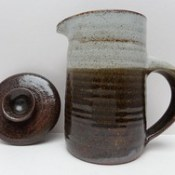 LEACH STYLE STUDIO POTTERY COFFEE POT
