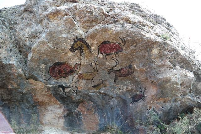 Pintura paleolítica en Atapuerca