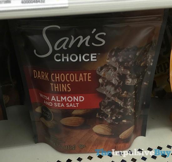 Sam's Choice Dark Chocolate Thins with Almond and Sea Salt