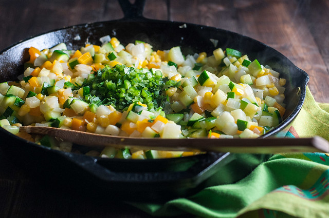 Never cooked with chayote? It's easy to find in stores and delicious as enchilada filling.