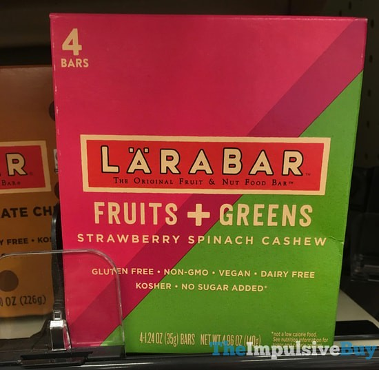 Larabar Fruits + Greens Strawberry Spinach Cashew Bars