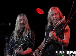 John Nymann and Brad Lang of Y&T live at Limelight 1, Belfast, 11 November 2015