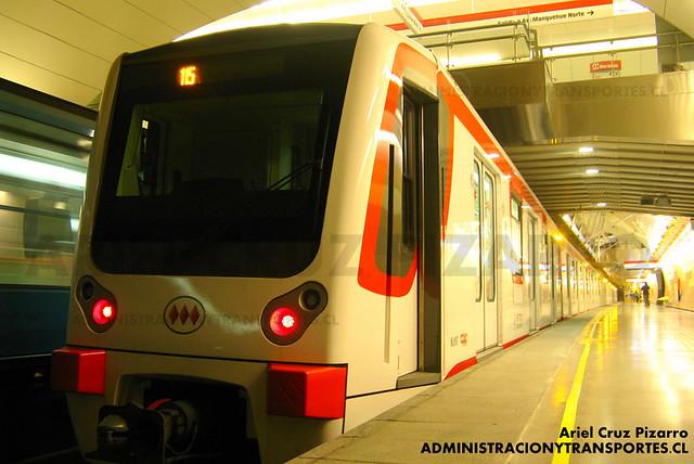 Metro de Santiago - CAF NS2007 N2099 - Manquehue (Línea 1)