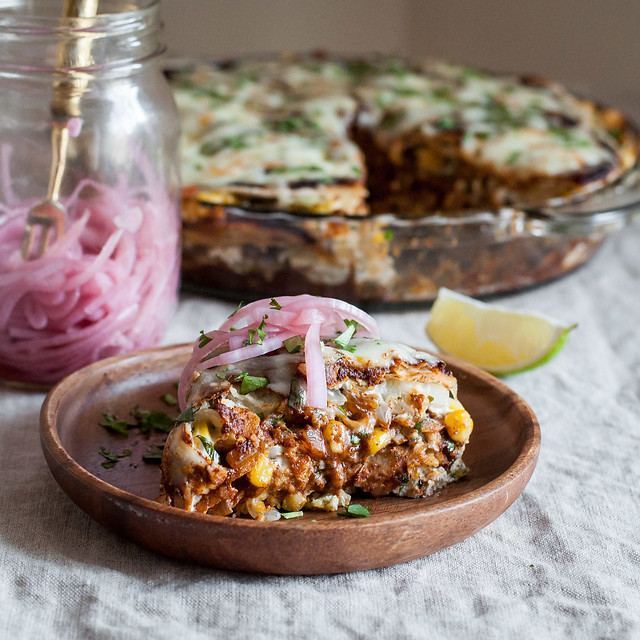 How to make your favorite enchiladas into enchilada PIE!