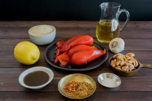 all the ingredients for muhammara