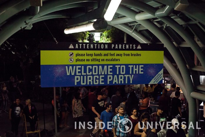 Terror Tram: Survive The Purge – Halloween Horror Nights 2015 at Universal Studios Hollywood