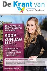Cover 'De Krant van Vlinderstad Emmen Centrum'   december 2016