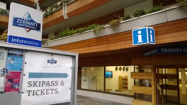 St Moritz tour info desk at train station