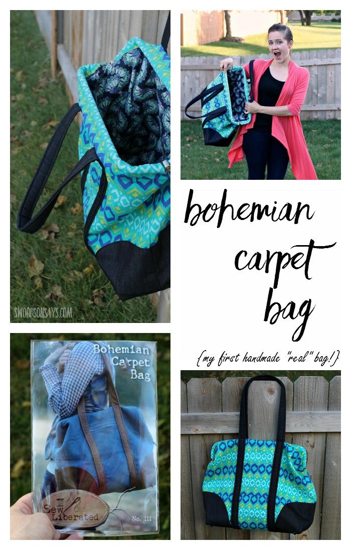 Bohemian Carpet Bag A Purse Pattern Review Swoodson Says