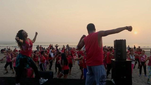 Dancing through Bali sunset