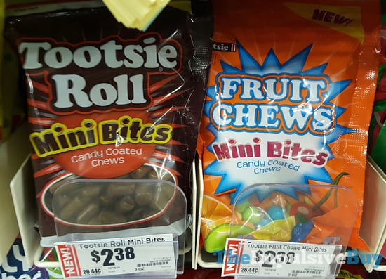 SPOTTED ON SHELVES: Tootsie Roll Mini Bites and Fruit Chews Mini Bites