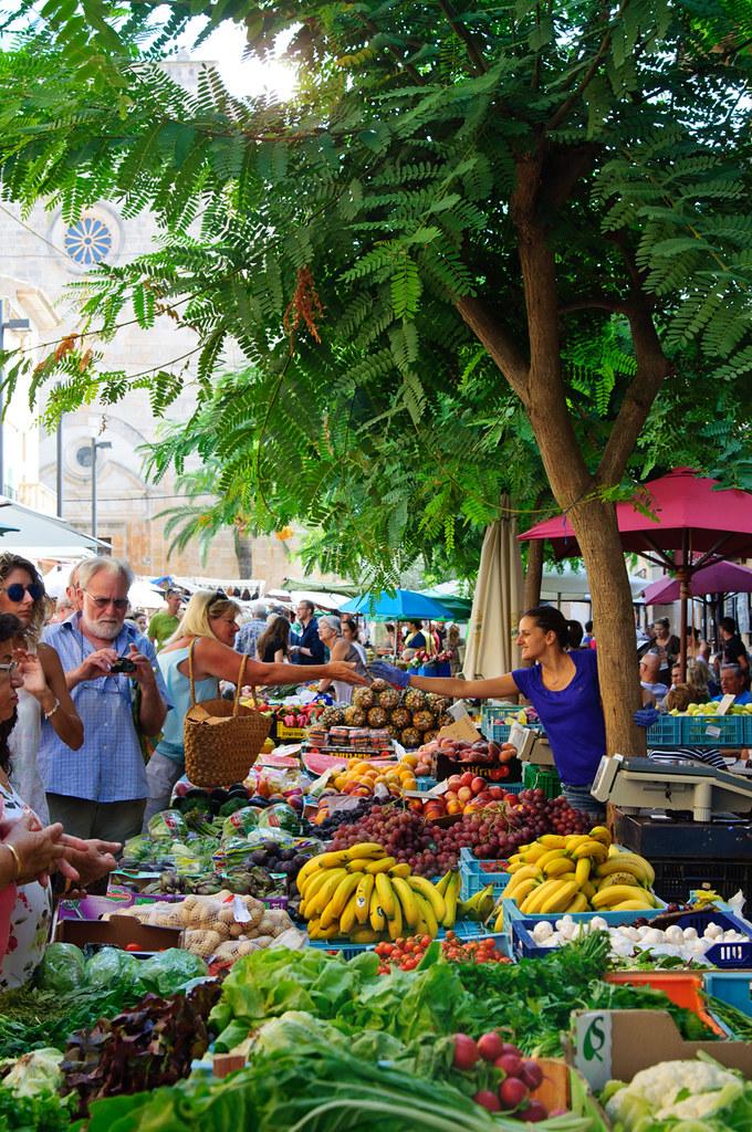 Markt in Santanyi Mallorca Osten
