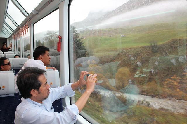window reflection glacier express