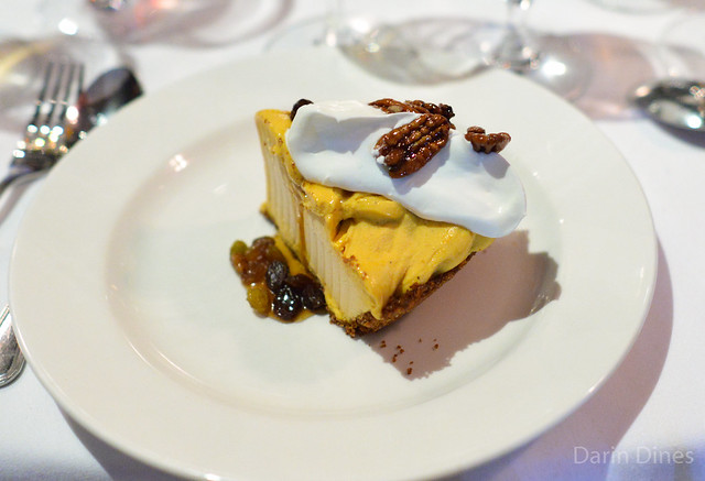 Pumpkin Gelato Pie rum raisin sauce & candied pecans