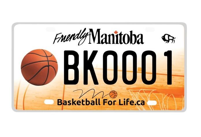 PHOTO: Basketball Themed Manitoba Licence Plate