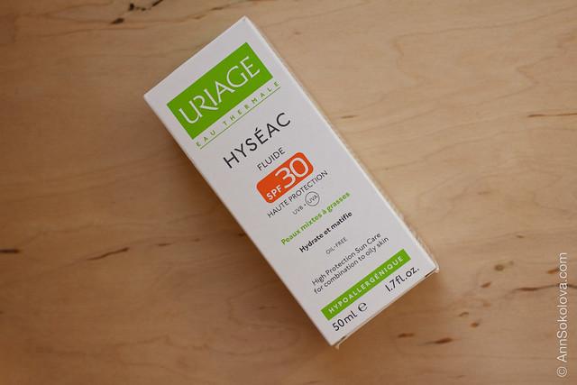 01 Uriage Hyseac Fluide spf30 обзор