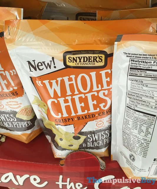 Snyder's of Hanover Wholey Cheese Swiss & Black Pepper Crackers