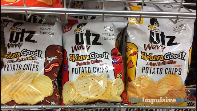 Utz Wavy Heluva Good Potato Chips (Bacon Horseradish, French Onion, and Jalapeno Cheddar)