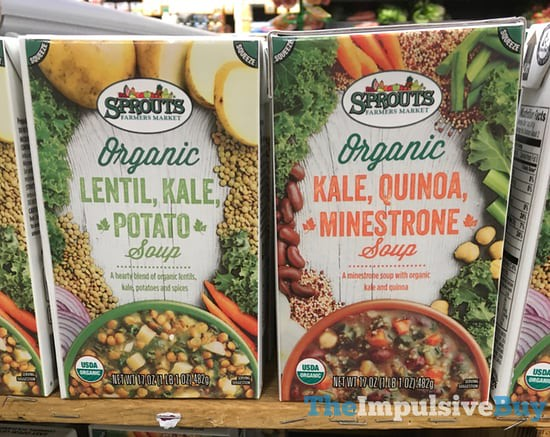 Sprouts Organic Soups (Lentil, Kale, Potato and Kale, Quinoa, Minestrone)