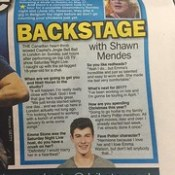 My published Interview with Shawn Mendes