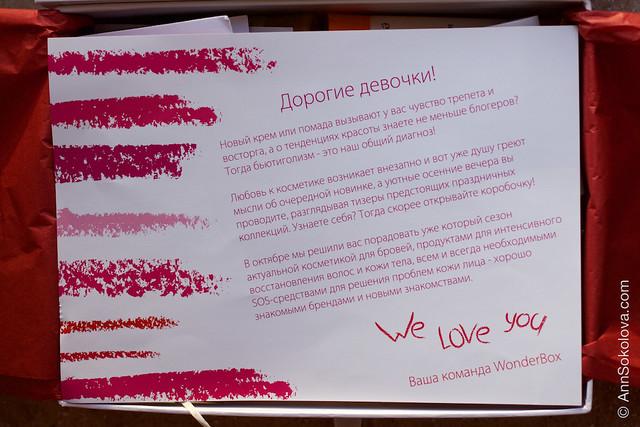 03 Wonderbox октябрь 2015 обзор бьюти блогера Анны Соколовой