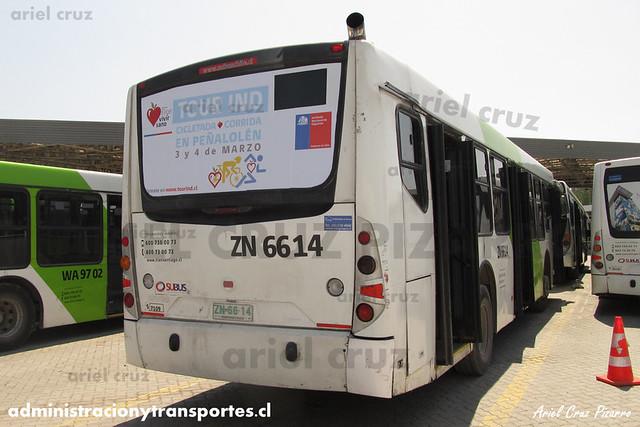 Transantiago - Subus Chile - Caio Mondego L / Volvo (ZN6614) (7109)