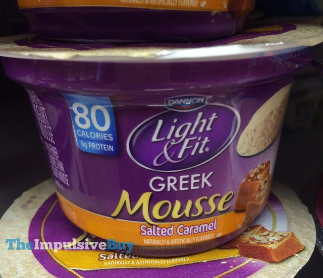 Dannon Light & Fit Salted Caramel Greek Mousse