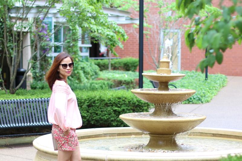 PInk-off-shoulder-top-floral-shorts-3
