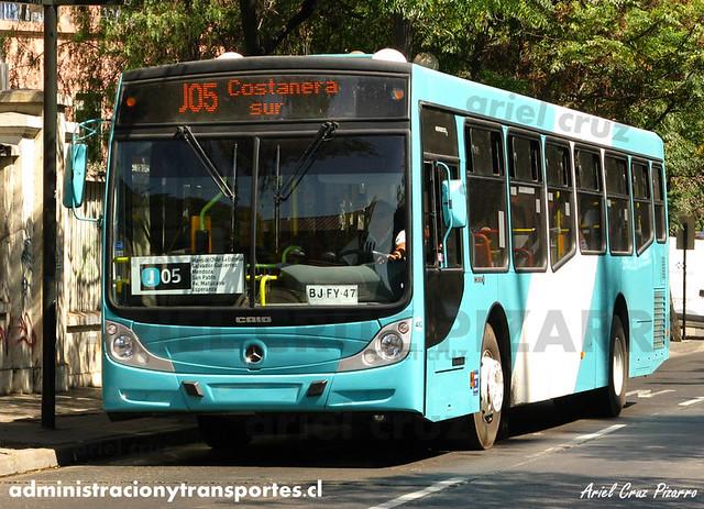 Transantiago - Metbus / Nueva Milenio - Caio Mondego H / Mercedes Benz (BJFY47) (482)