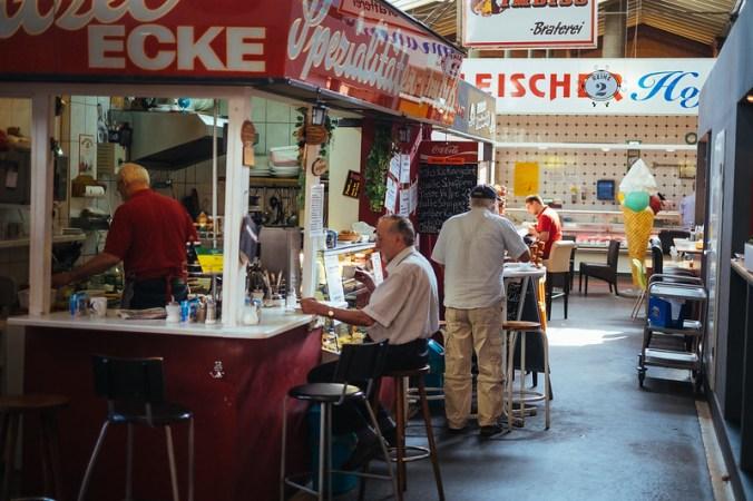 Arminiusmarkthalle in Berlijn: geen hipster te bekennen