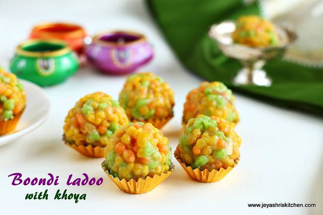Boondi ladoo with khoya