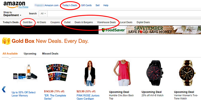 Amazon shopping tips - know the deals