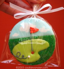 'Hole in one' Golf cookies
