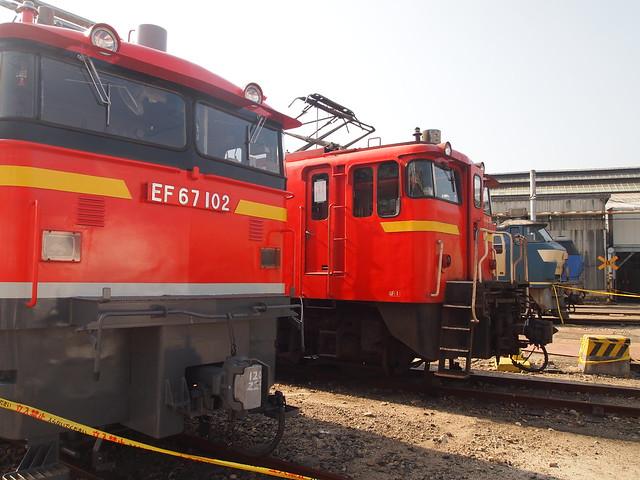 展示機関車の並び