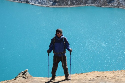 Pure blue. Gokyo lake.