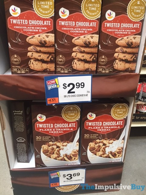 Giant Limited Time Originals Twisted Chocolate Chocolate Chunk Cookies and Flake & Granola Cereal