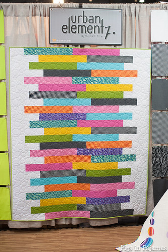 Fun quilt at the Northcott booth