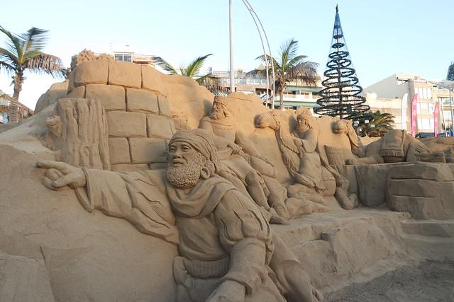 Belén de arena de la playa de Las Canteras