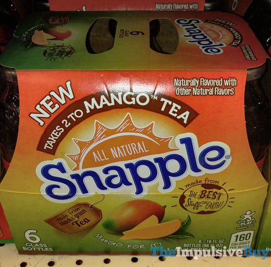 SPOTTED ON SHELVES: Snapple Takes 2 To Mango Tea