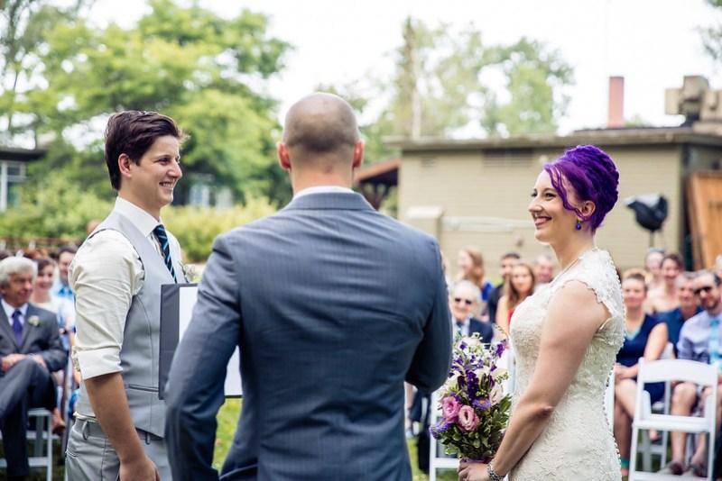 A wedding with a Bitcoin unity ceremony
