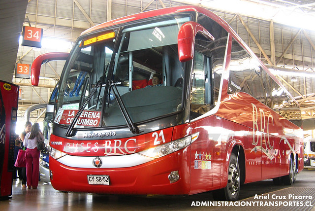 Buses BRC - Santiago - Marcopolo Paradiso 1200 / Scania (CYSB52)