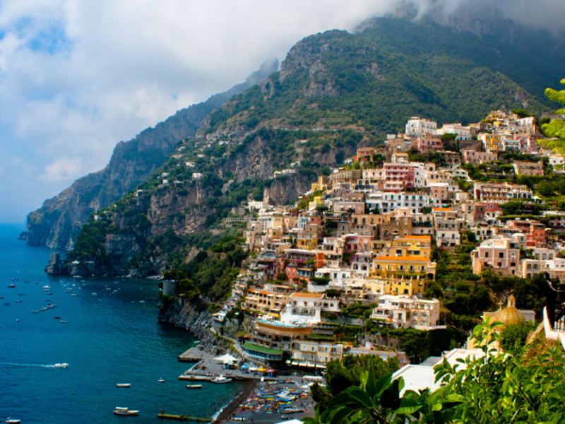 Positano on the Amalfi Coast (photo credit: On Foot Holidays).