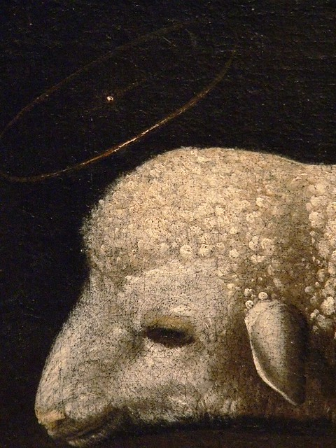 Agnus Dei by Francisco De Zurbaran Spain 1636 Oil Detail 1