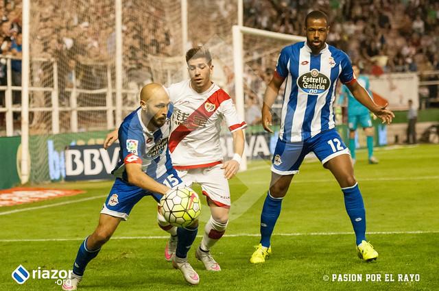 Temporada 15/16. Jornada 3ª.  Rayo Vallecano 1 - R.C.Deportivo 3