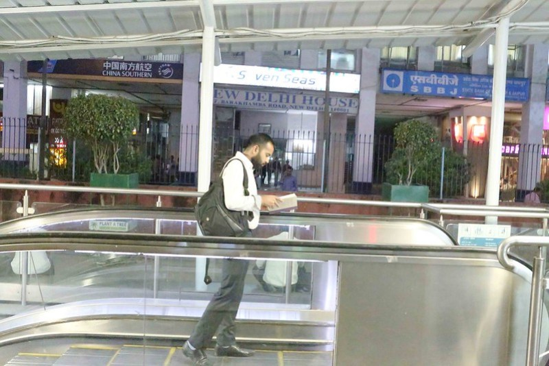 City Life – Nikhil Kumar's Vikram Seth Reading, Delhi Metro & Barakhamba Metro Station
