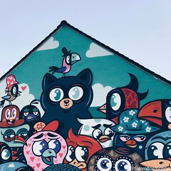 #great #day in #ostend #visitoostende with #thecrystalship #streetart #art #wall #colours #blue #spring #sky #visitflanders #oostende #wall #vsco #vscocam #wanderlust #travel #travelgram #belgium #igbelgium #streetartistry #animals #buethewarrior